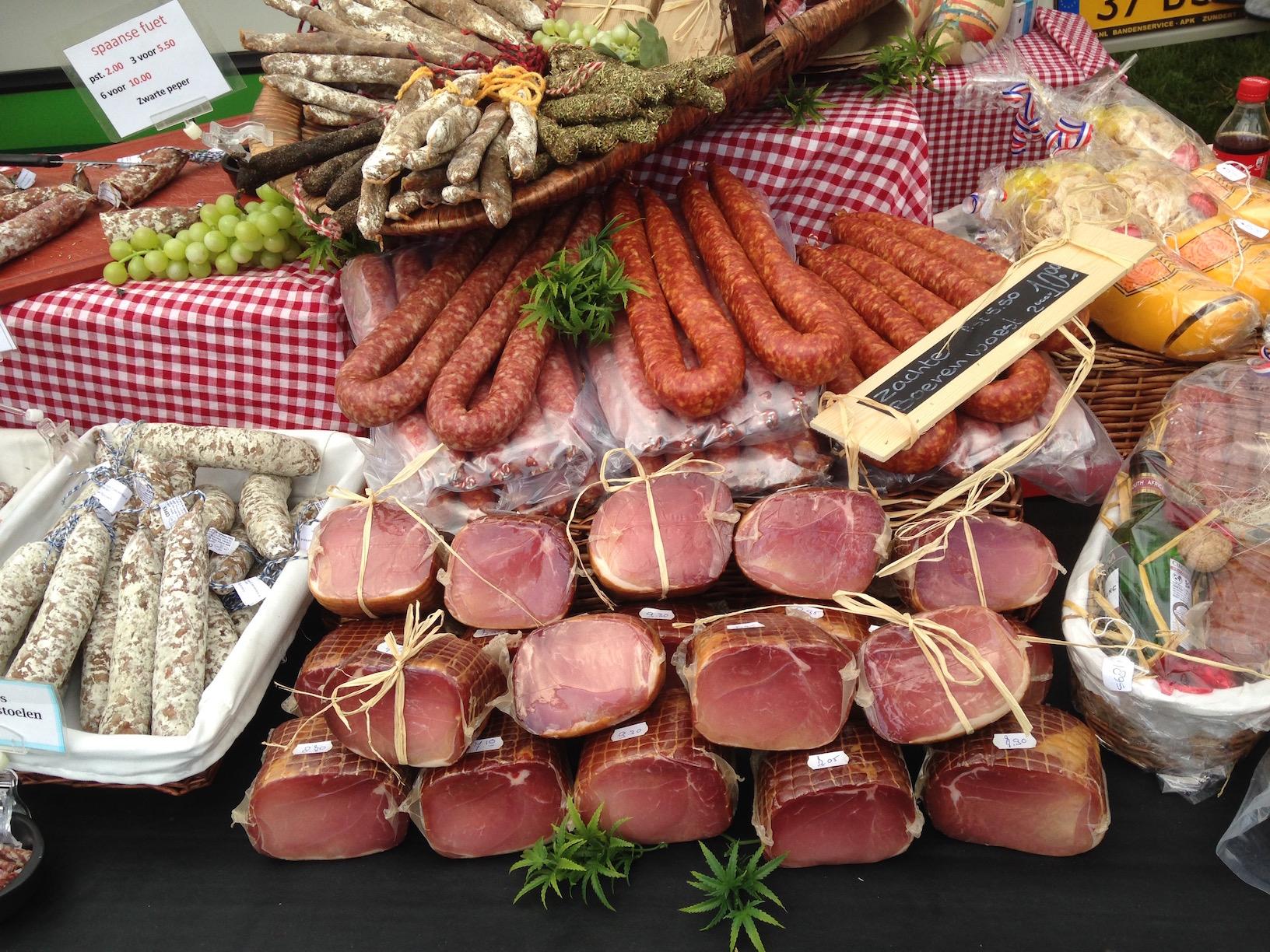 Aanbod worst en ham